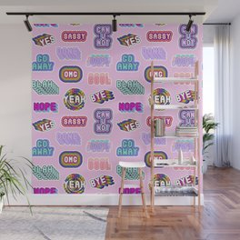 Fun patches / pink Wall Mural