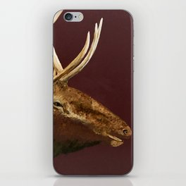 Big Bull Elk Profile iPhone Skin