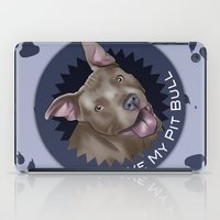 pit bull iPad Cases featuring I ❤ My Pit Bull by Art by Nik