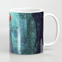 be brave Mugs featuring Brave by Juniper Vinetree