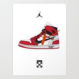 Jordan x Off White Art Print