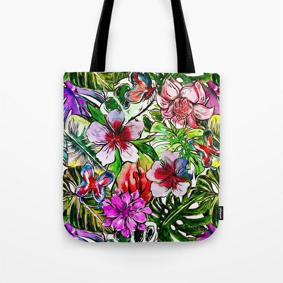 Tropical Flower Hibiscus Garden Tote Bag