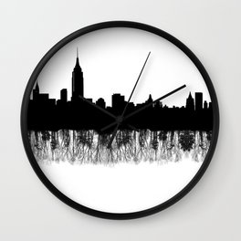 Nature and human nature Wall Clock