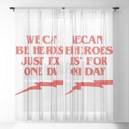 Heroes Sheer Curtain