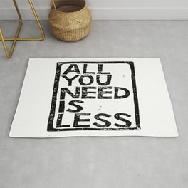 All You Need Is Less In Craft Stamp Black Ink Rug