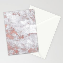 Marble Rose Gold - Lost Stationery Cards