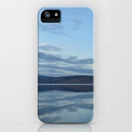 Klamath Lake reflecting clouds iPhone Case