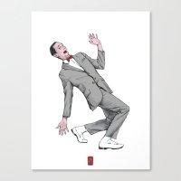 pee wee Canvas Prints featuring Pee Wee Herman #2 by Christian G. Marra