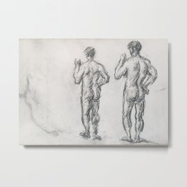 Standing Male Bather; Puget's Atlas Metal Print