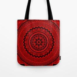 Red Mandala Tote Bag