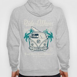 Ride The Waves California Surfing Summer Hoody