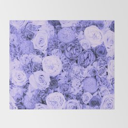 bouquet ver.blue-b Throw Blanket