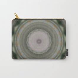 The Green Unsharp Mandala 9 (Camouflage Target) Carry-All Pouch