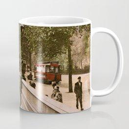 Vintage The Embankment, River Thames, London Coffee Mug