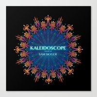 book cover Canvas Prints featuring Kaleidoscope Art Book Cover by Sam Skyler