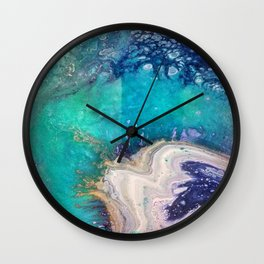 Glass Spill Wall Clock