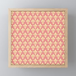 fleur de lis motif pattern Framed Mini Art Print