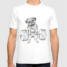 Pug Lift Mens Fitted Tee White MEDIUM