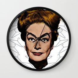 Joan Crawford- No wire hangers! Wall Clock