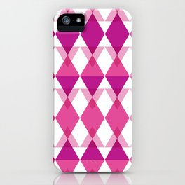 Pink Triangle Pattern iPhone Case