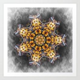 Pandanus Palm Fruit Kaleidoscope Art Print