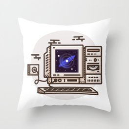 Simulated Reality Throw Pillow