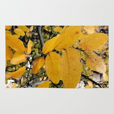 Yellow Leaves of Autumn Rug