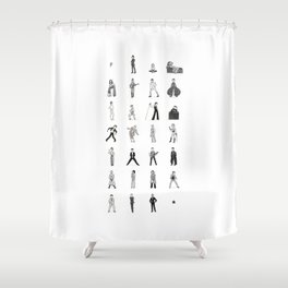 The stars look very different today Shower Curtain