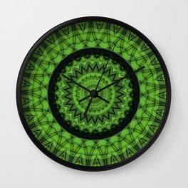 Regardlossly Plaid Mandala 2 Wall Clock