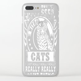 I Really Like Cats Clear iPhone Case