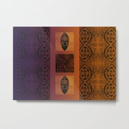 Ethnic 3 - African Style Pattern Metal Print