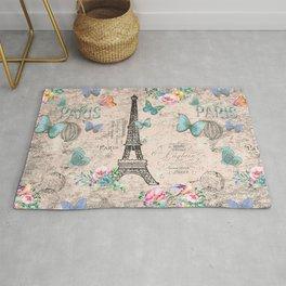 Paris - my love - France Nostalgy - pink French Vintage Rug