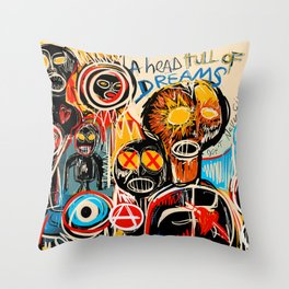 Head full of dreams Throw Pillow