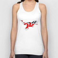 coke Tank Tops featuring Diet Coke T-Rex by Annie