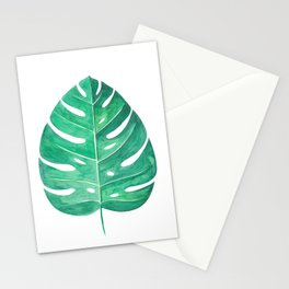 Monstera Leaf #2 | Watercolor Painting Stationery Cards