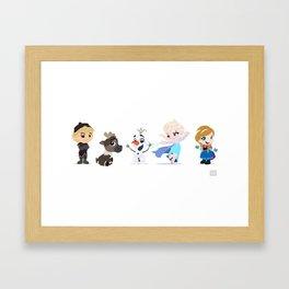 Frozen Friends Framed Art Print