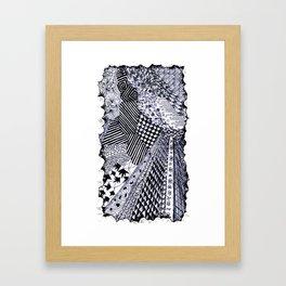 Zentangle 01 Framed Art Print