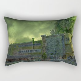 Post Apocalyptic Royton NHS Doctors Building Rectangular Pillow
