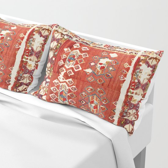 Hotamis  Antique Turkish Karapinar  Kilim Print by vickybragomitchell