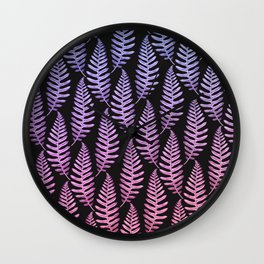 Multi Color Leaves (Black) Wall Clock