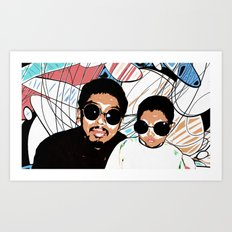 Father and Son Pop Art Print