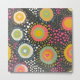 abstract organic texture Metal Print