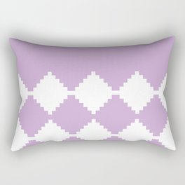 Abstract geometric pattern - purple and white. Rectangular Pillow