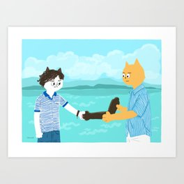 Call me by your name - Handshake Art Print