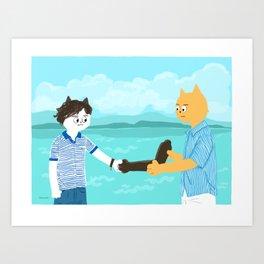 Call me by your name - Handshake Art Print