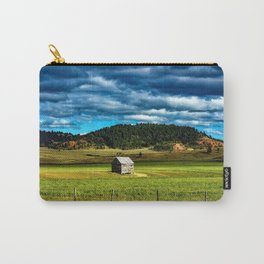 Farm Shed with bellowing sky in the Mountains of Wyoming Carry-All Pouch