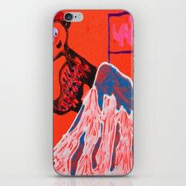 Dino climbing Mt. Rainier iPhone Skin