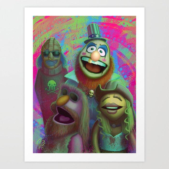 Muppet Maniac - Electric Mayhem as the Firefly Family Art Print