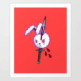 Pierced bunny Art Print