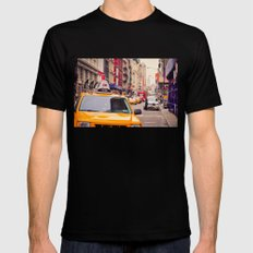 NYC Yellow Cab Mens Fitted Tee MEDIUM Black